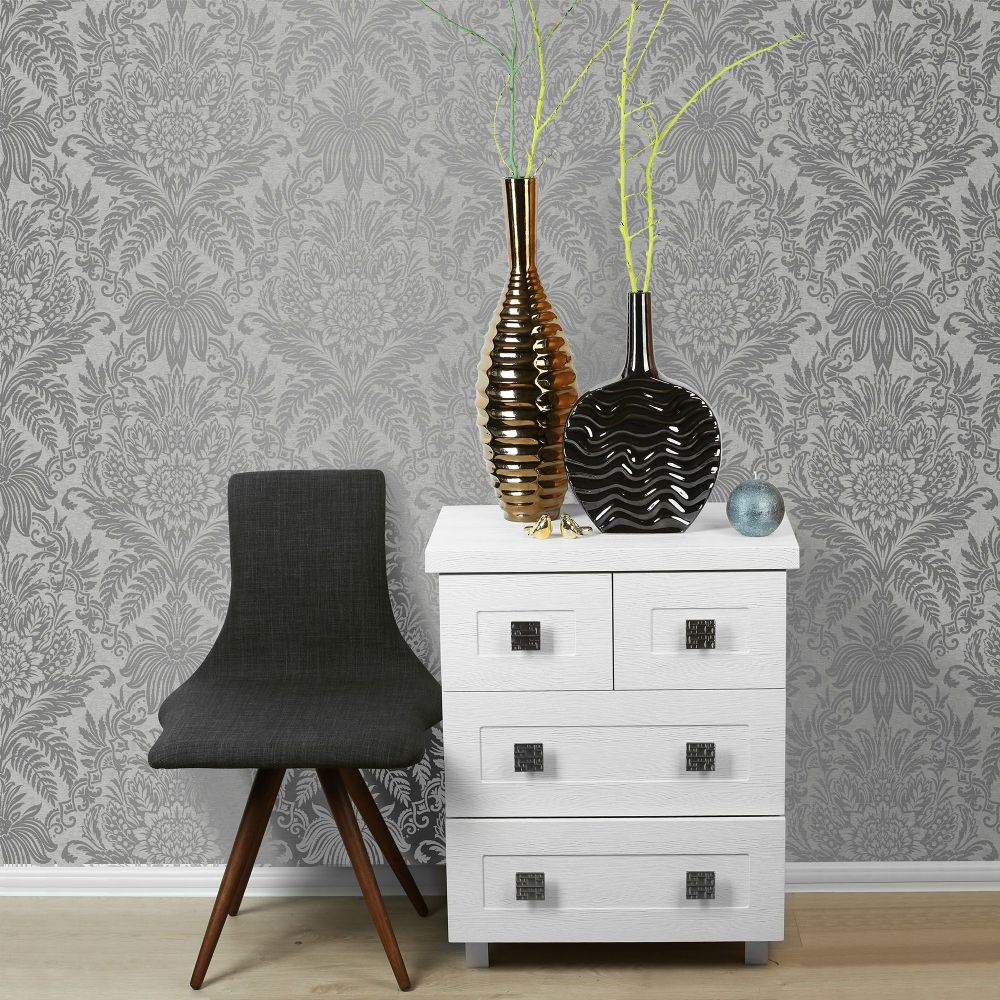 Crown Signature French Grey M1067 Wallpaper